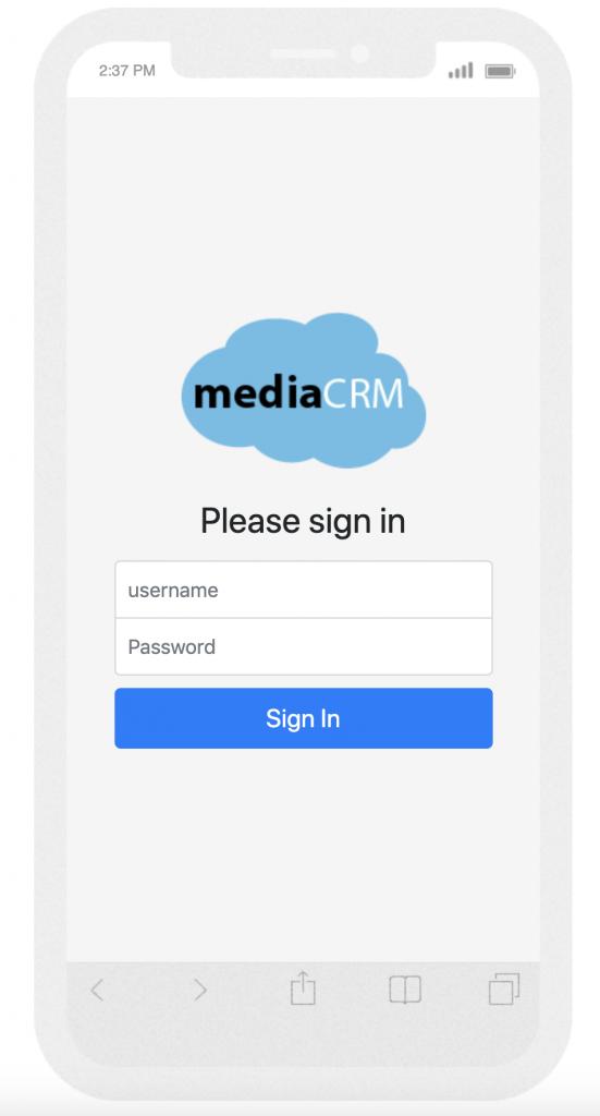 crm login page