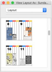 Ad dummying layout