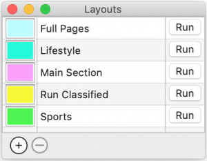 Ad dummying layout colors